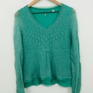 Knitted & Knotted Anthropologie V-Neck Sweater